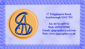Monogram Business Card Back by StuDocWho