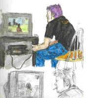 man playing grand theft auto san andreas by HiddenStash