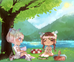 SUMMER TIME YCH by Aluie