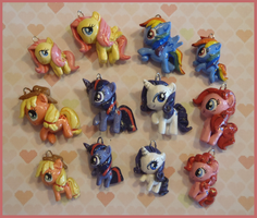 Chibi-Charms: My Little Pony take 2 by MandyPandaa
