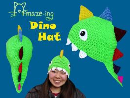 Amaze-ing Dino Hat with Teeth by Amaze-ingHats