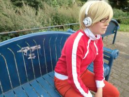 Bakuman - Bench Pondering by MsKitty77
