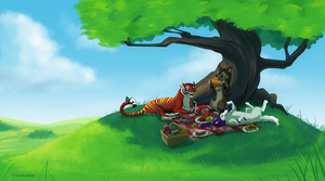 Commission - Picnic by tigon