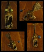 Angry Angler Fish by 1980Stitch