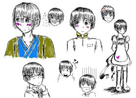 Japan Sketches by APHnation-Nihon