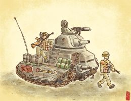 Infantry support tank by gokiman