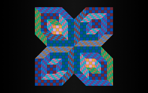 Inspired by Victor Vasarely - Frankrike by Manshonyagger