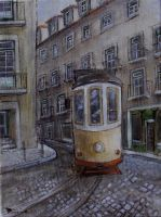 Lisbon oil paint by Boias