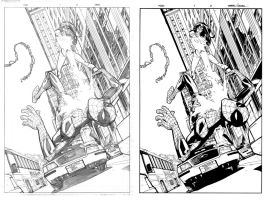Free Comic Book Day pag 3 inks. by Lobo-Cuevas