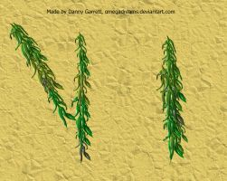 Willow Tree Leaf Brush for Manga Studio 5 by OmegaDreams