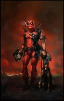 Serious Aged Deadpool by Gottsnake