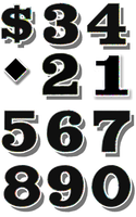 individual numbers vector by SmashWhammy
