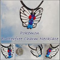 Pokemon - Butterfree Charm Necklace - Handmade