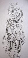 Biomechanical tattoo desing by murderingdoll