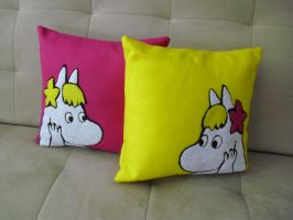 Snork Maiden Pillows by estranged-illusions