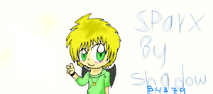 Me drawing Sparx from KPA by shadow54379