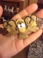 Hogwarts the Polymer Clay owl by Scutterland