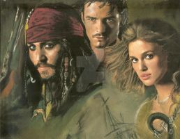 Pirates of the Caribbean by sketchychick