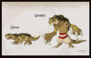 Desert Crocodiles by Either-Art