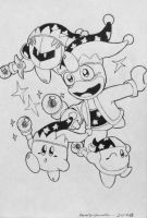 Kirby and the Beam Team by ReallyGouda
