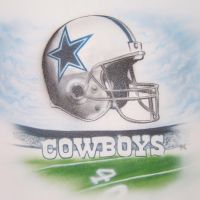Dallas Cowboys mural by KidStyles