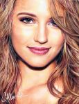 Dianna Agron - drawing by Live4ArtInLA