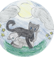 Feathertail and Crowfeather AT by Dovesplash