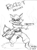 Rocket Raccoon by rugdog