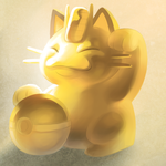 Golden Meowth by Umbrielle
