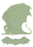 Green Pernese Dragon Auction by mistywren
