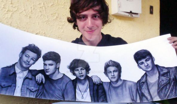 With my One Direction Drawing by jardc87