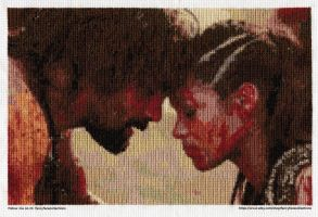 Crixus and Naevia -- Spartacus Cross Stitch by lailarshid