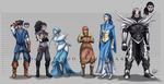 Emerald Nuzlocke Team Gijinka Height Chart by ShadeofShinon