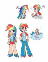 Rainbow Dash and Rainbow Blitz by otaku-attitude