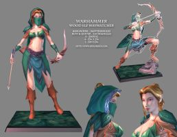 Warhammer: Wood Elf Waywatcher by YeeWu