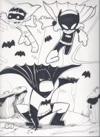 Batman and his trusty wards! by RobTariArt