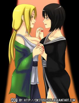 Tsunade and Shizune COMMISSION by DKSTUDIOS05