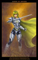 $10Commision:Queen of Swords by johnbecaro