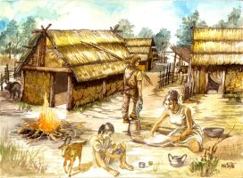 iron age settlement by Sedeslav
