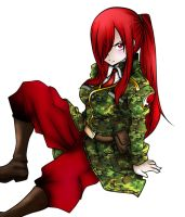 Erza Scarlet Military Clothes by jaywork