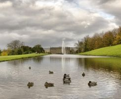 Chatsworth House and Ducks by Lazlowoodbine2010