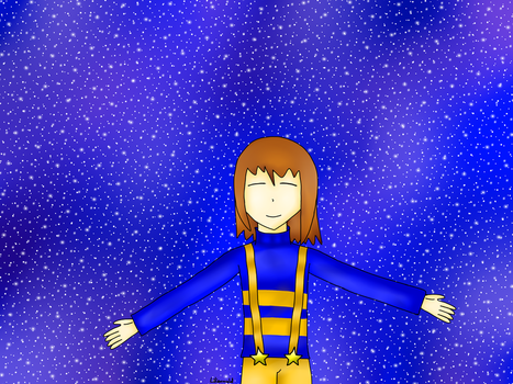 Outertale Frisk (Click once for better view) by Lilienwald