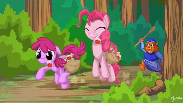 Berry Punch and Pinkie Pie - Gummiberry Juice 16.9 by mysticalpha