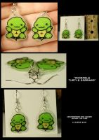 Turtle earrings by CatharsisJB