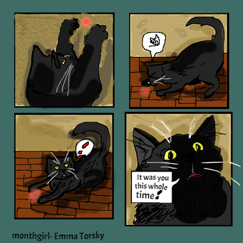 my cat had a Epiphany by monthgirl