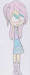 another humanized Fluttershy drawing by LilyQueenOfPurple