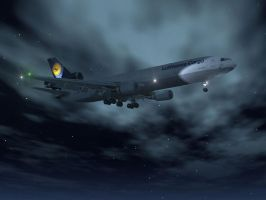 MD-11F LH At Night by flightlevel-380