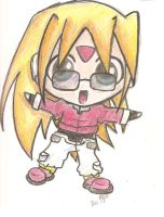 chibi Giro from Rockman ZX by mewichigocutie