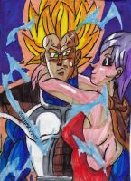 SSJ2 Vegeta and Bulma by ChahlesXavier