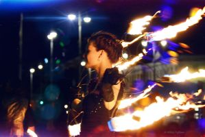 Girl on Fire by Mishelangello